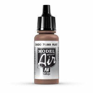 Vallejo Model Air Metallic Rust - 17ml - 71069