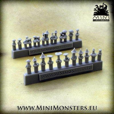 Mini Monsters Mushrooms - 20st - MM-45
