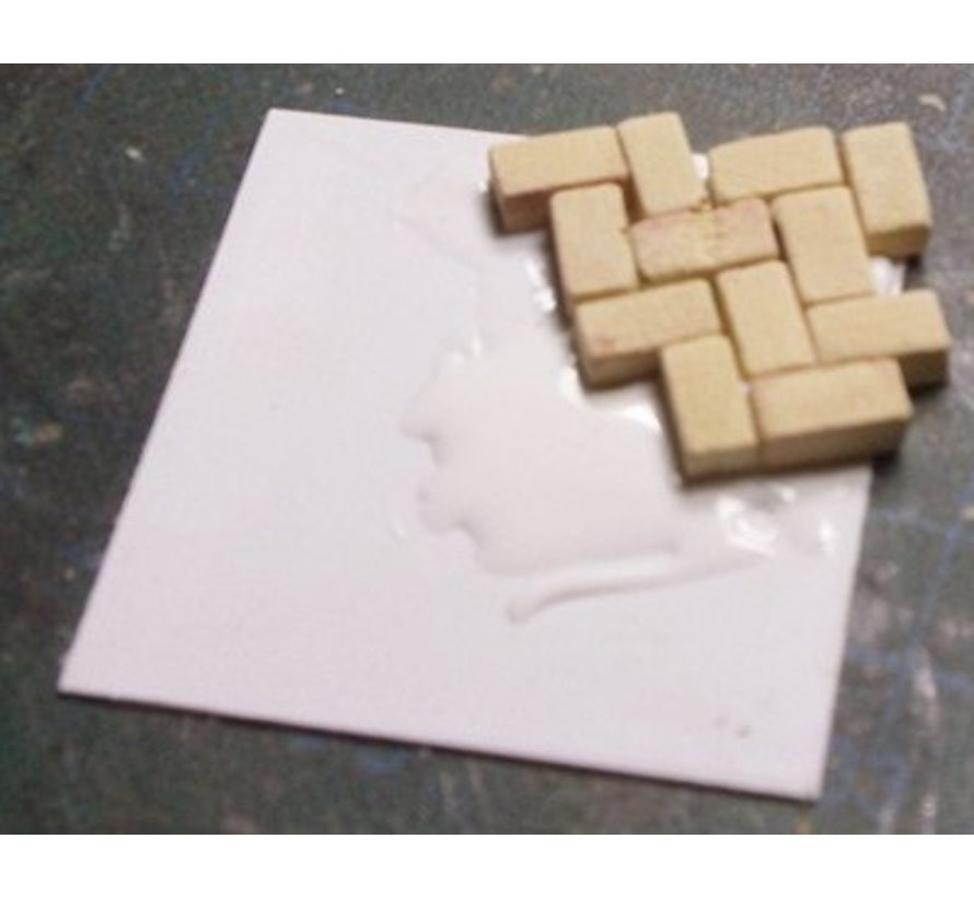 Grijs licht baksteen 1:35 - 1000x - 23009