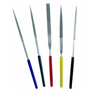 Vallejo Diamond File set 100mm - diamant vijlen - 5x - Vallejo Tools - T03004