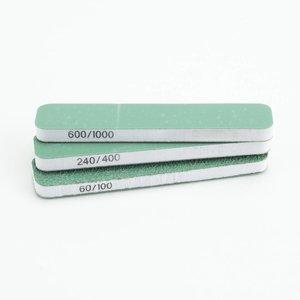 Vallejo FlexiSander Dual Grit 90x19x6mm - schuurblok - 3x - Vallejo Tools - T04001