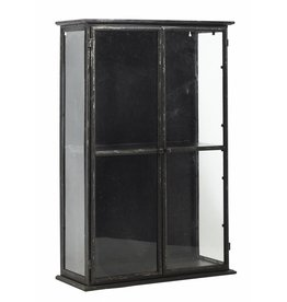 Nordal display case, black, 80 cm high