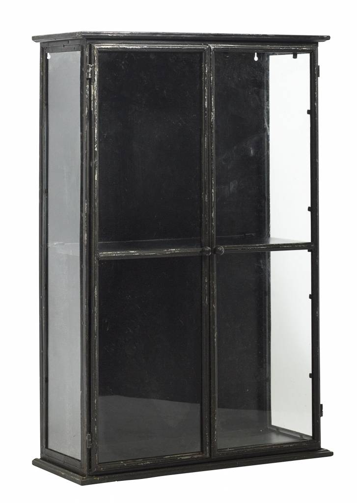 Nordal display case, black, 80 cm high