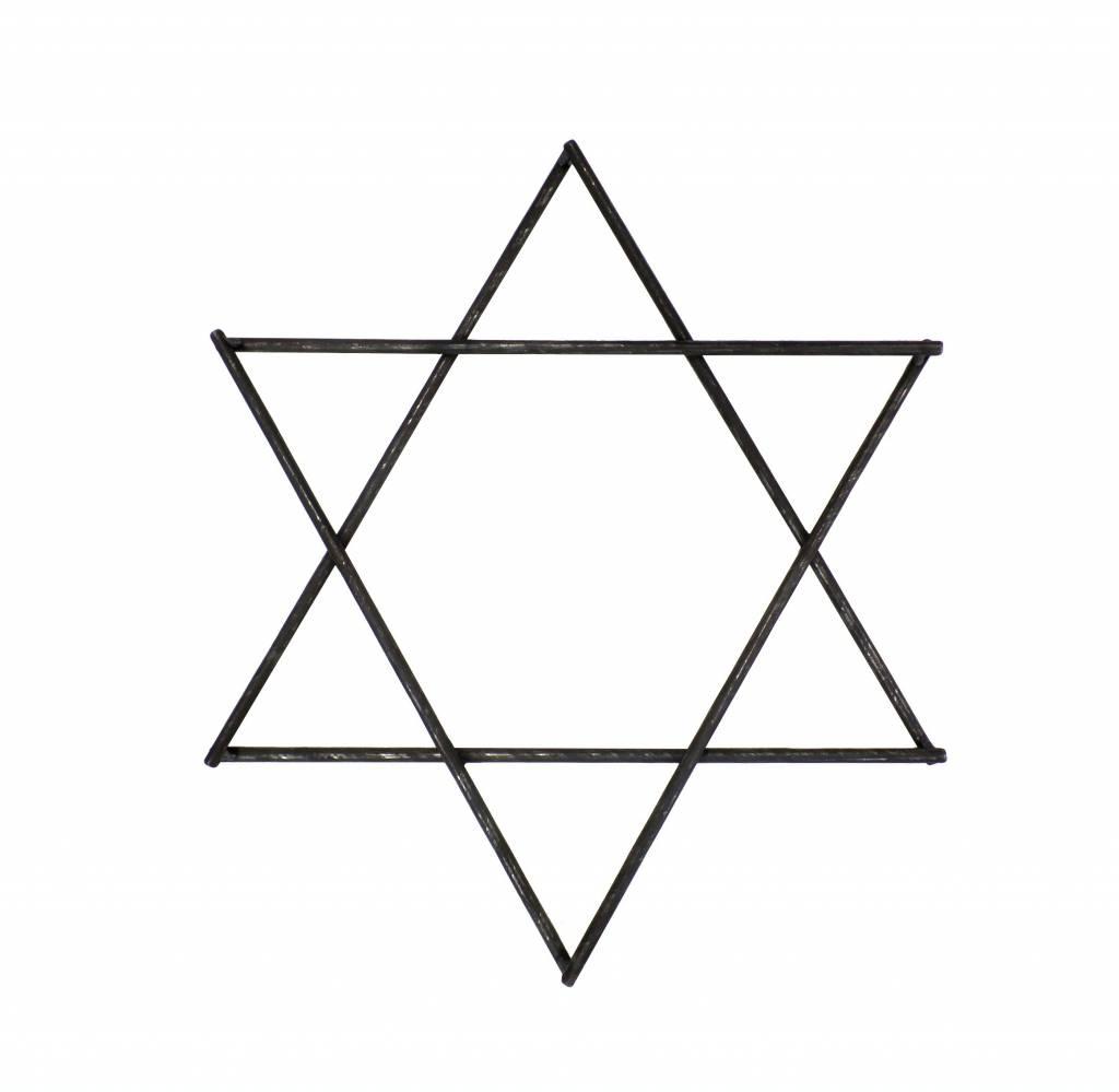 Stoer Metaal izeren ster, metaalkleurig klein