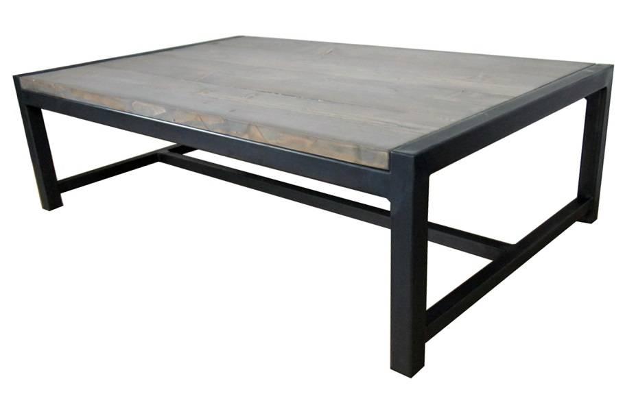 Stoer metaal salontafel stoer06 stoer metaal - Glazen tafel gesmeed ijzer en stoelen ...
