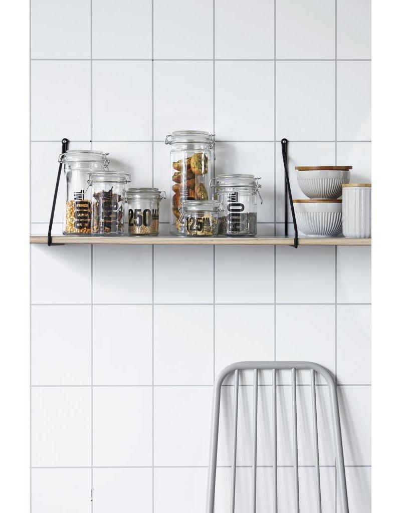 house doctor zwarte plankdragers stoer metaal. Black Bedroom Furniture Sets. Home Design Ideas