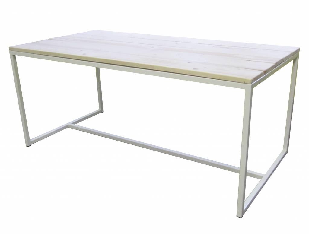 Houten Tafels Met Ijzeren Onderstel: Eiken tafel met metalen onderstel ...