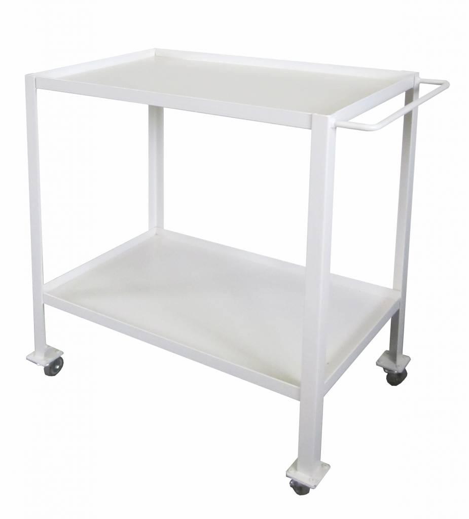 Stoer Metaal trolley, wit
