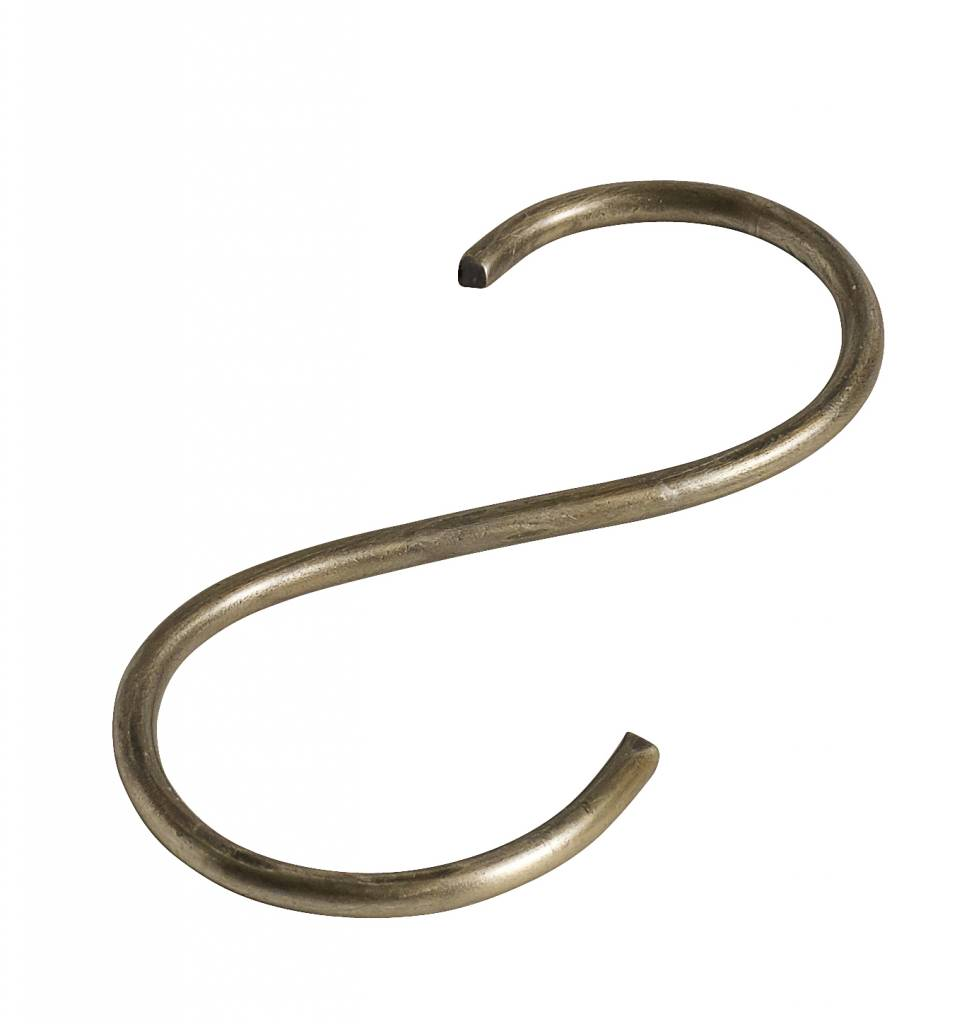 Nordal S-hook, thin,gold