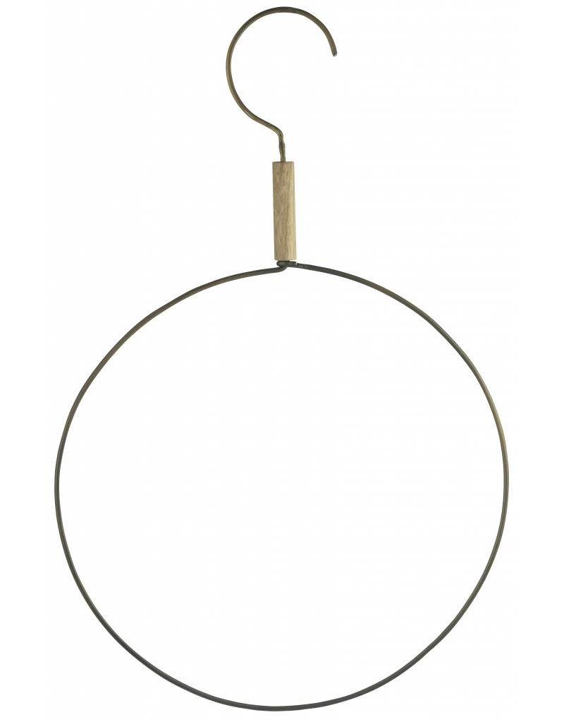 Madam Stoltz haak met ring, XL-hanger, oudgoud