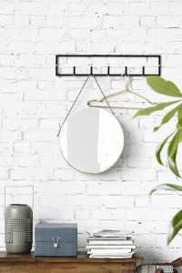 House Doctor coat rack, rack, black