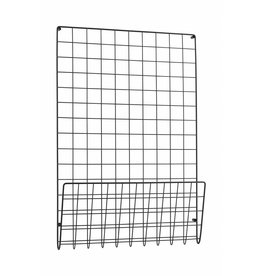 House Doctor wallrack mesh, black