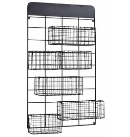 Madam Stoltz wall rack, black