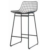 HK Living barstool wire, wire steel, black