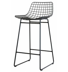 HK Living barstool wire, steel wire, black