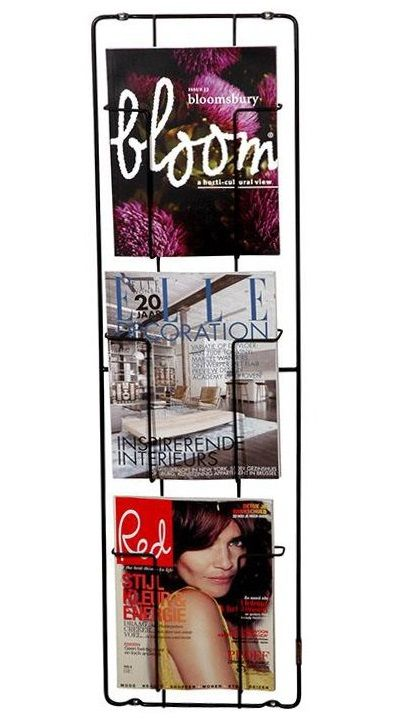 magazine rack, 3 pockets