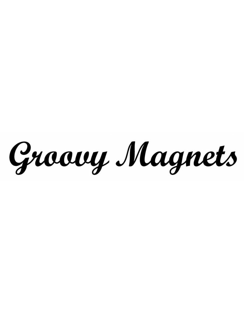 Groovy Magnets magneetjes, rond zwart