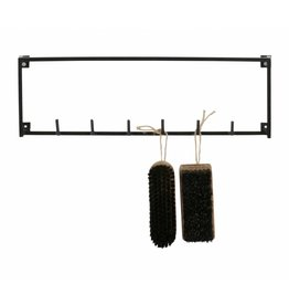 Woood 6 coat hooks, Meert, black