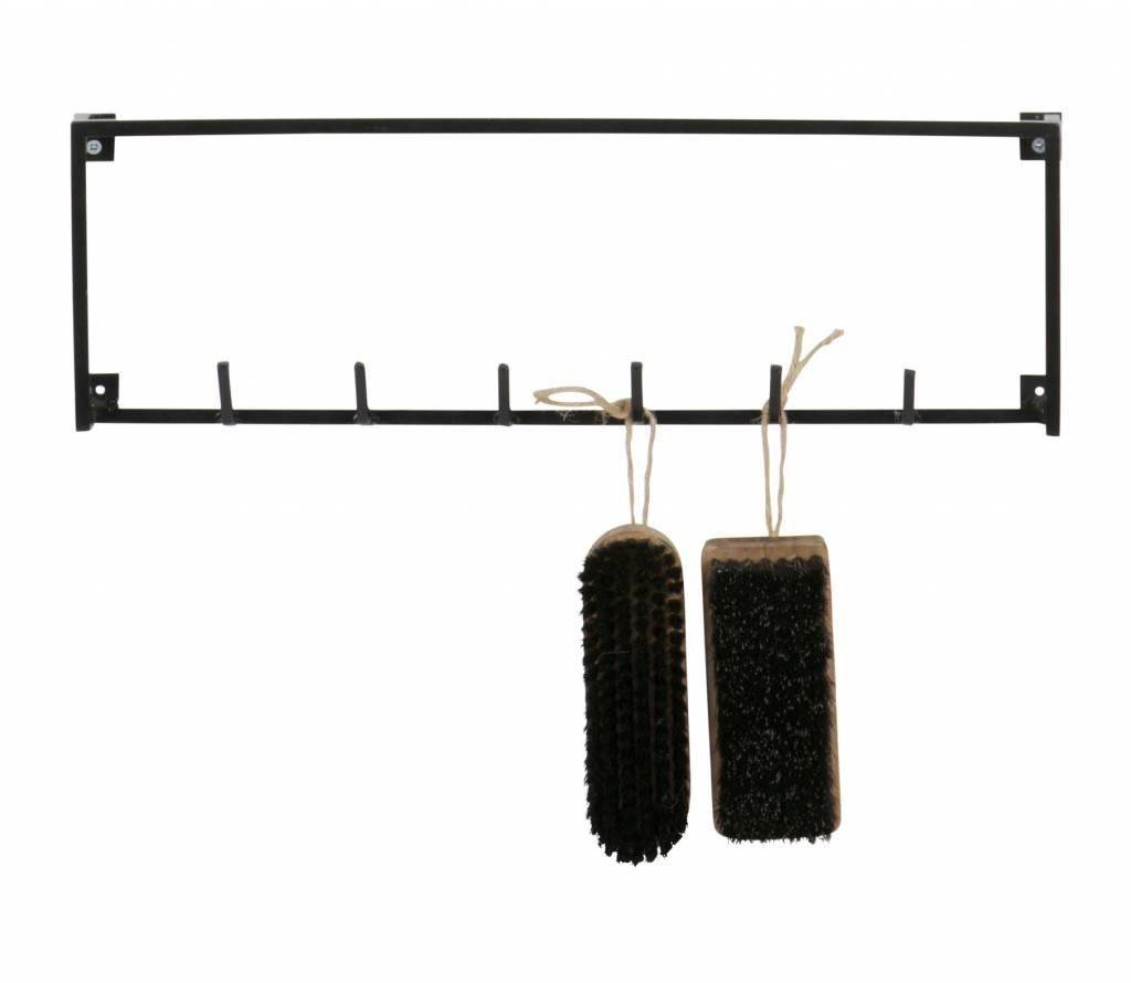 Woood 6 coat hooks, Meert, black