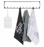 Woood Coat rack, 10 hooks, Meert, black