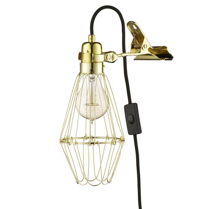HeyThereHi Clamp Lamp Lux, brass