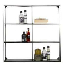 Woood wall rack, black