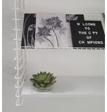 Stoer Metaal literature shelf inlaid shelf, black or white