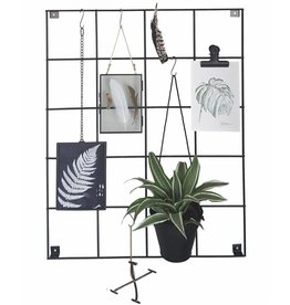 Stoer Metaal showrek wall rack, black