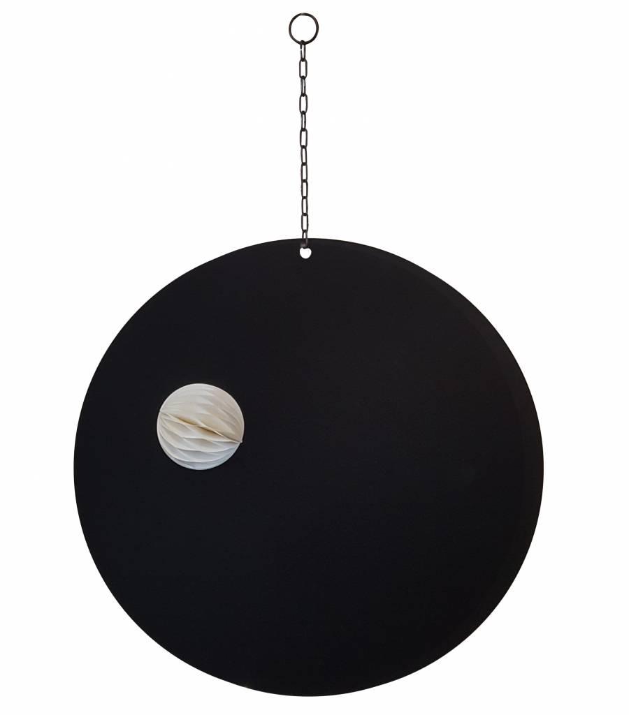 Stoer Metaal magneetbord Round, zwart