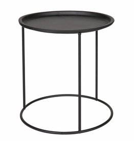 Woood Side table Ivar, M, black