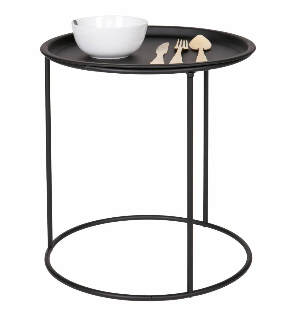 Woood Side table Ivar, M, black