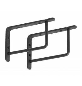 Nordal zwarte plankdragers, 15 of 20 cm
