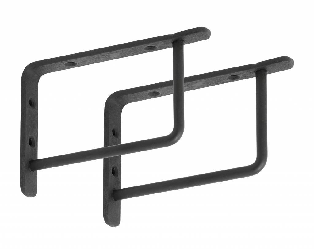 Nordal Black shelf carriers, 15 or 20 cm