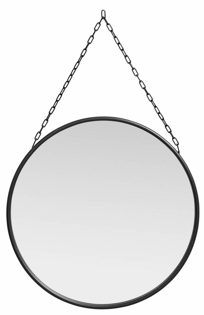Nordal spiegel Downtown, rond met ketting