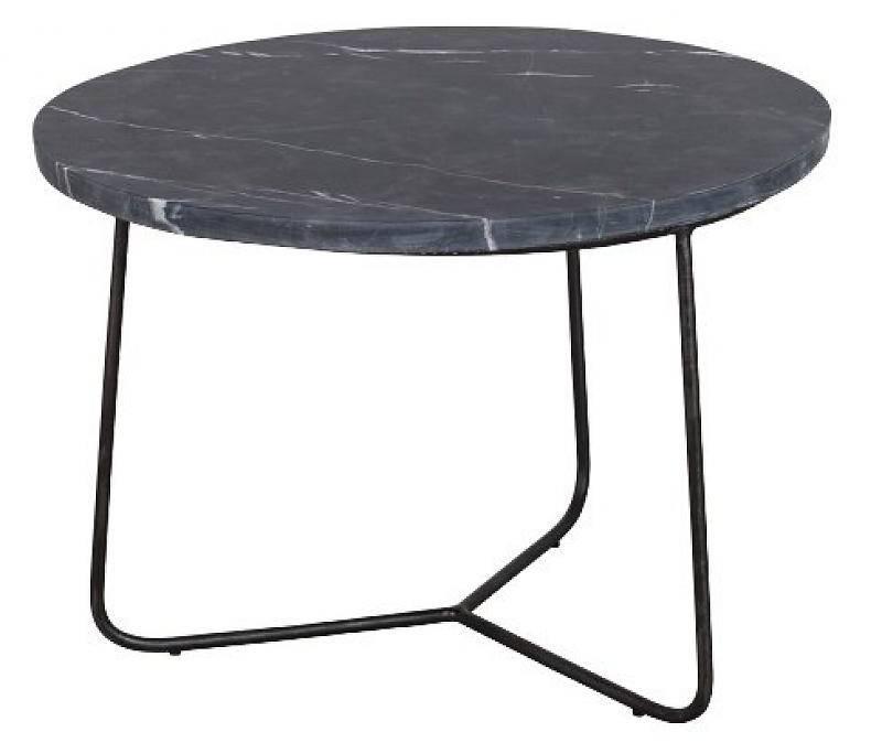 LifeStyle Side table Minnesota, marble, black