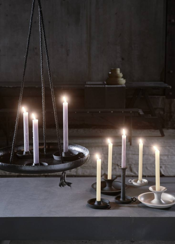 vtwonen candle holder with ear, black