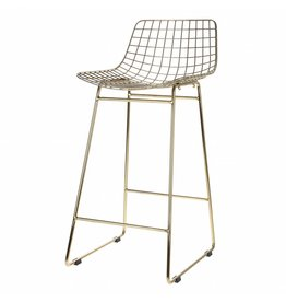 HK Living bar stool wire, gold