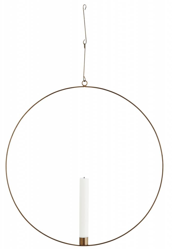 Madam Stoltz candlestick circle, old gold