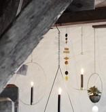 Madam Stoltz candlestick circle, old gold