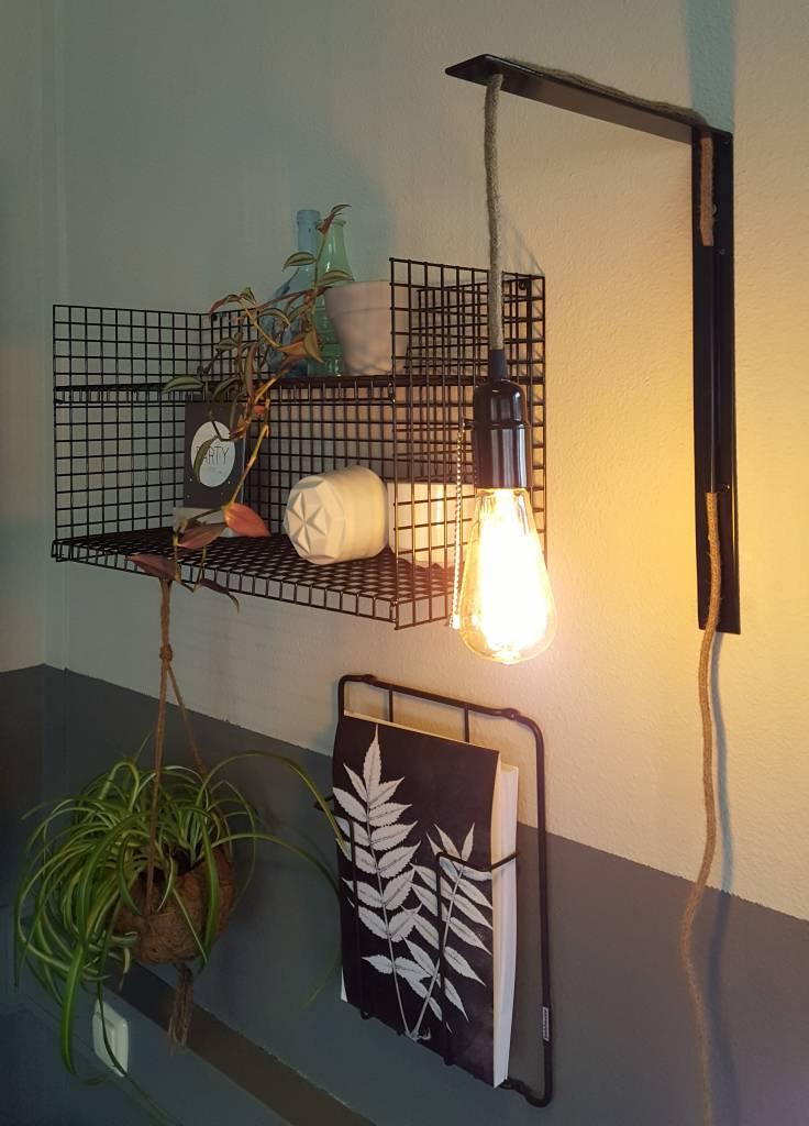 Stoer Metaal wall lamp Rope