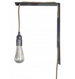 Stoer Metaal wandlamp Rope