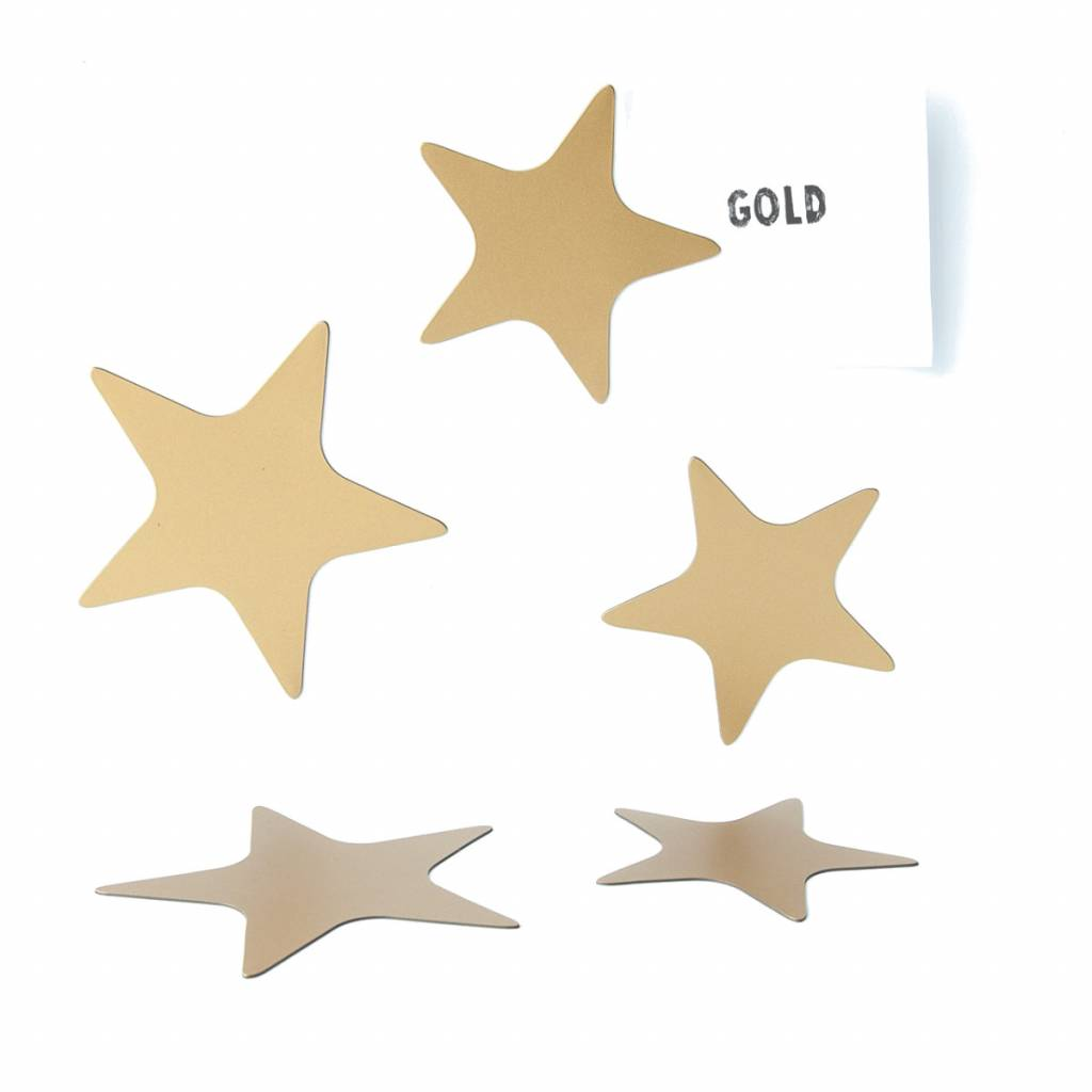 Groovy Magnets magnets, star gold
