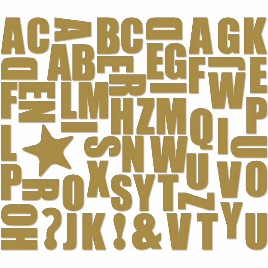 Groovy Magnets magnets, ABC, gold