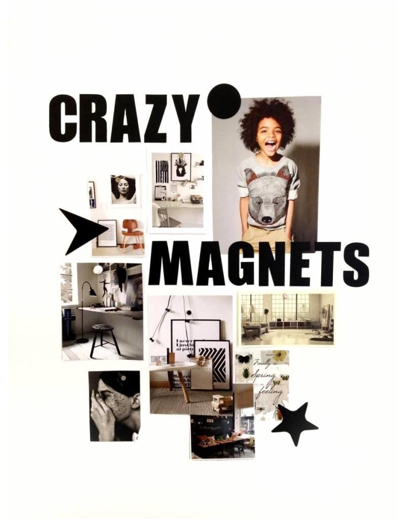 Groovy Magnets magneten, ABC, zwart
