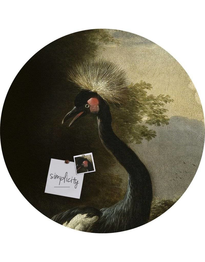 Groovy Magnets magneetsticker Crackle 'Majestic crane', kraanvogel