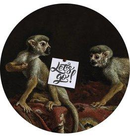 Groovy Magnets magneetsticker Two little monkeys, aapjes