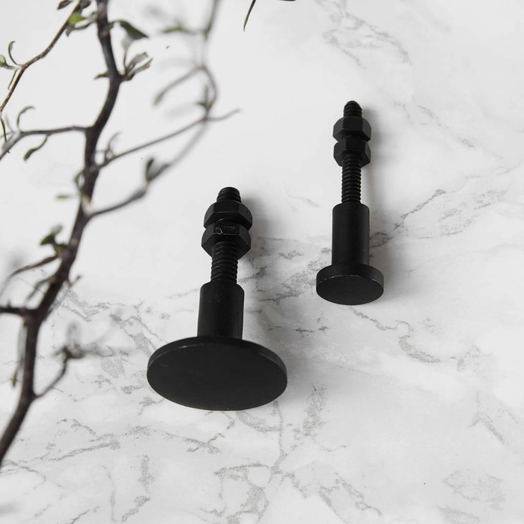 House Doctor kastknopjes Black, 1,5 cm