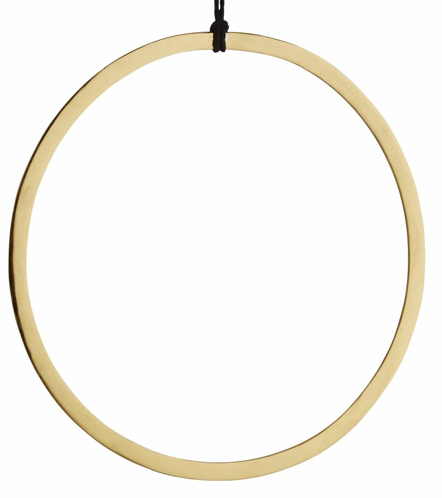 Madam Stoltz decoration hanger gold, round