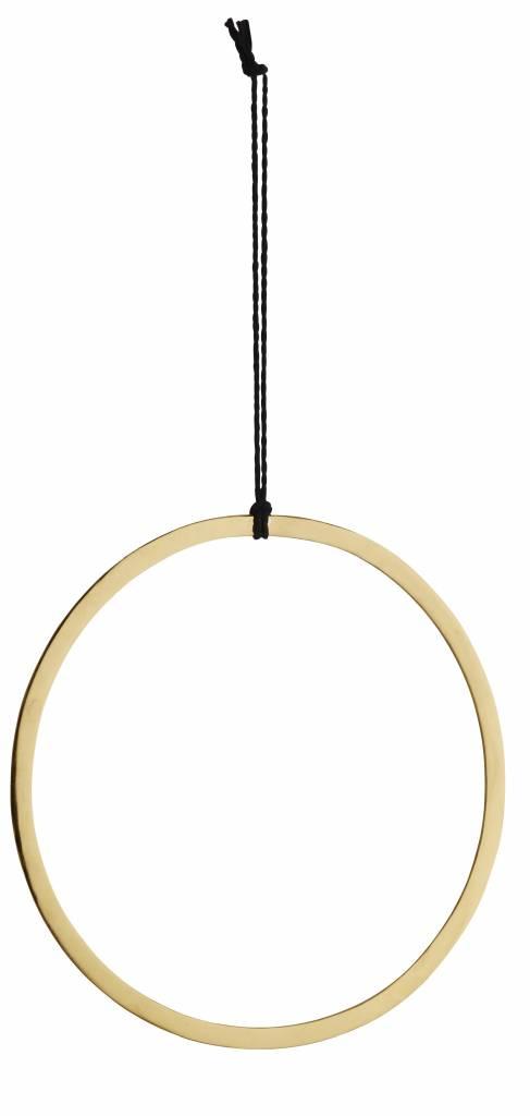 Madam Stoltz decoratie hanger goud, rond