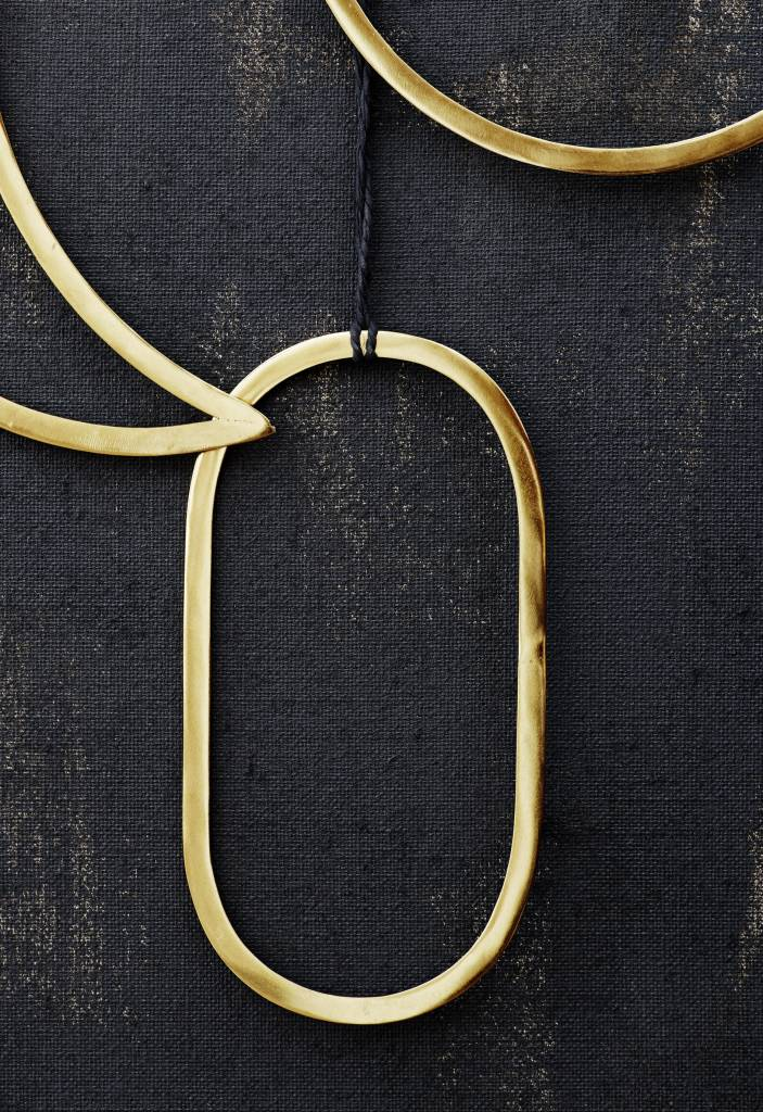Madam Stoltz decoration pendant gold, oval